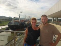 Miraflores-schleuse bei Panama city