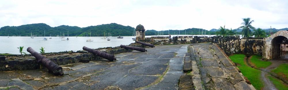 Die Reste der Festungsanlage von Puertobelo