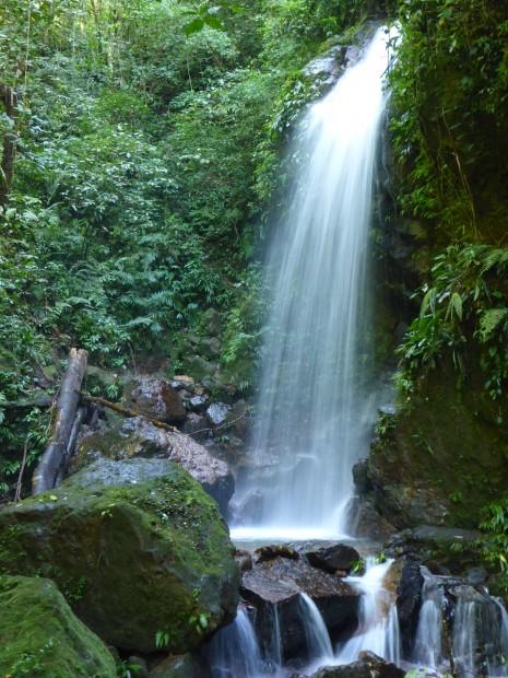 Wasserfall auf dem Sasai-track