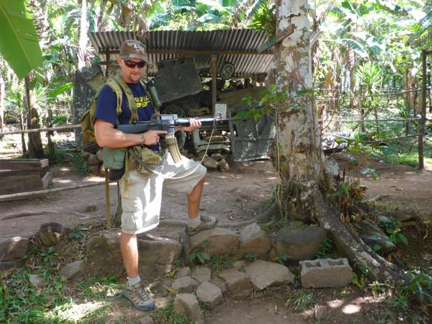 Bekannt in ganz El Salvador der Guerilla-Schütz