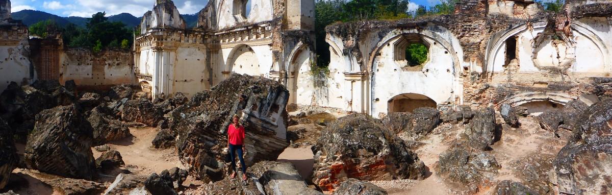 Das zerstörte Kloster in Antiqua