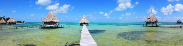 Glover's Atoll..Hütten ausserhalb umseres Budgets
