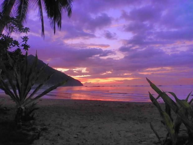 Sonnenuntergang und Farbexplosion